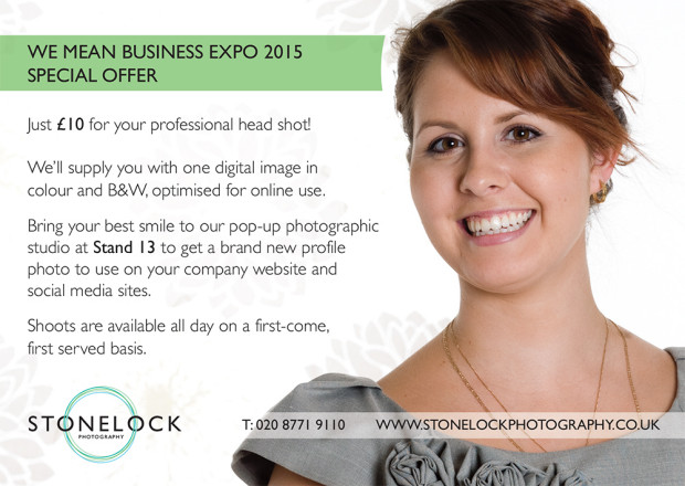 We Mean Business Croydon Expo Stonelock Photography Pop-up Studio