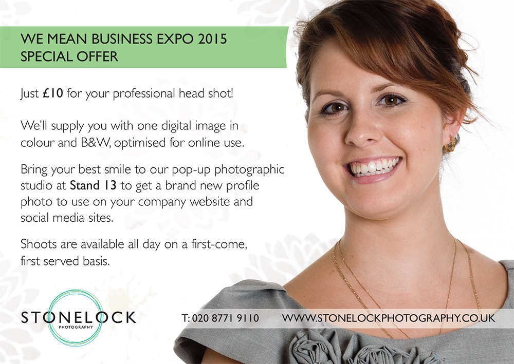 We Mean Business Croydon Expo Stonelock Photography Pop-up Studio