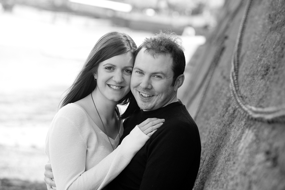 Engagement photo shoot by the River Thames in London