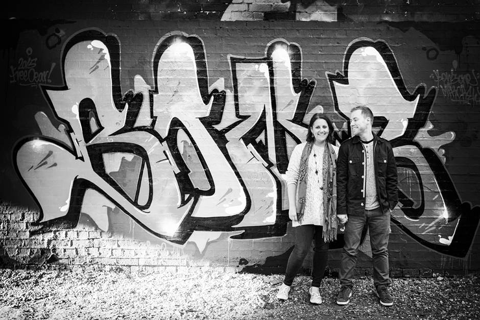Urban Engagement photo shoot on the Parkland Walk in Finsbury Park North London