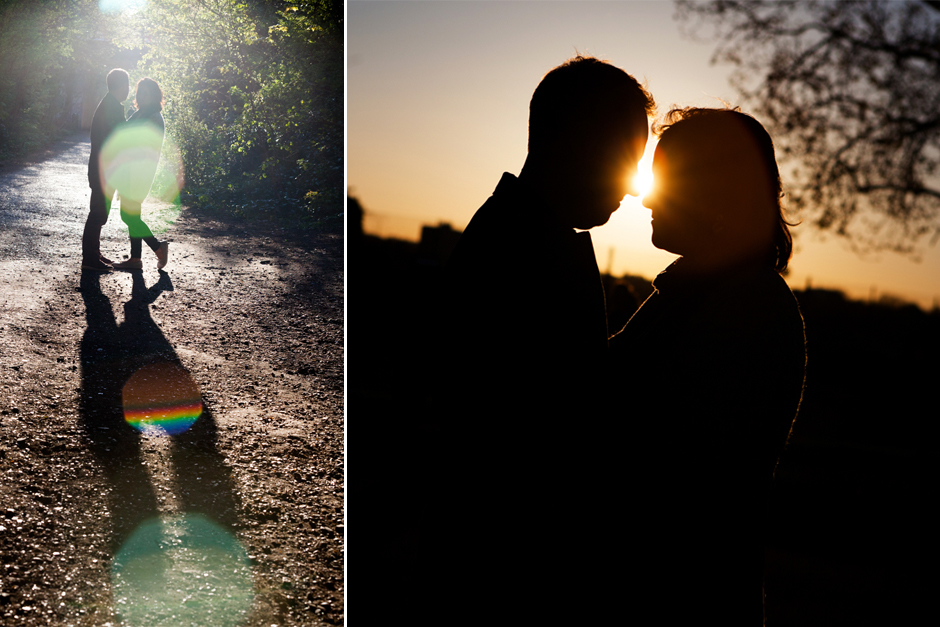 Engagement photo shoot on the Parkland Walk in Finsbury Park North London
