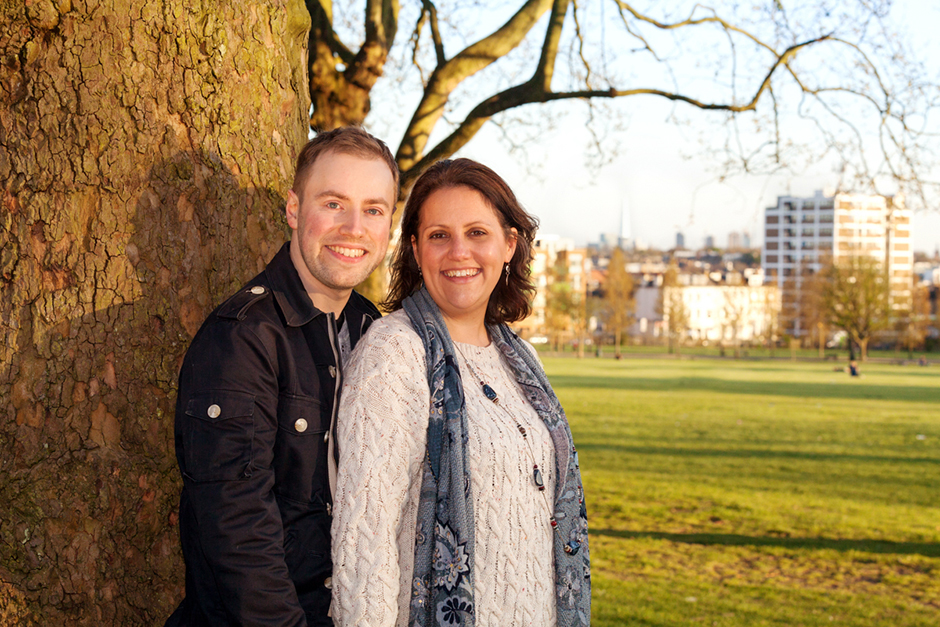 Engagement photo shoot in Finsbury Park North London