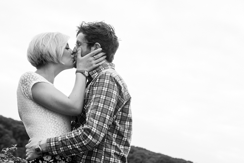 Engagement photo shoot on the Downs in Bristol