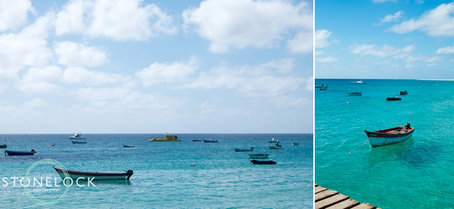 Fishing boats in Santa Maria on Sal Island in Cape Verde