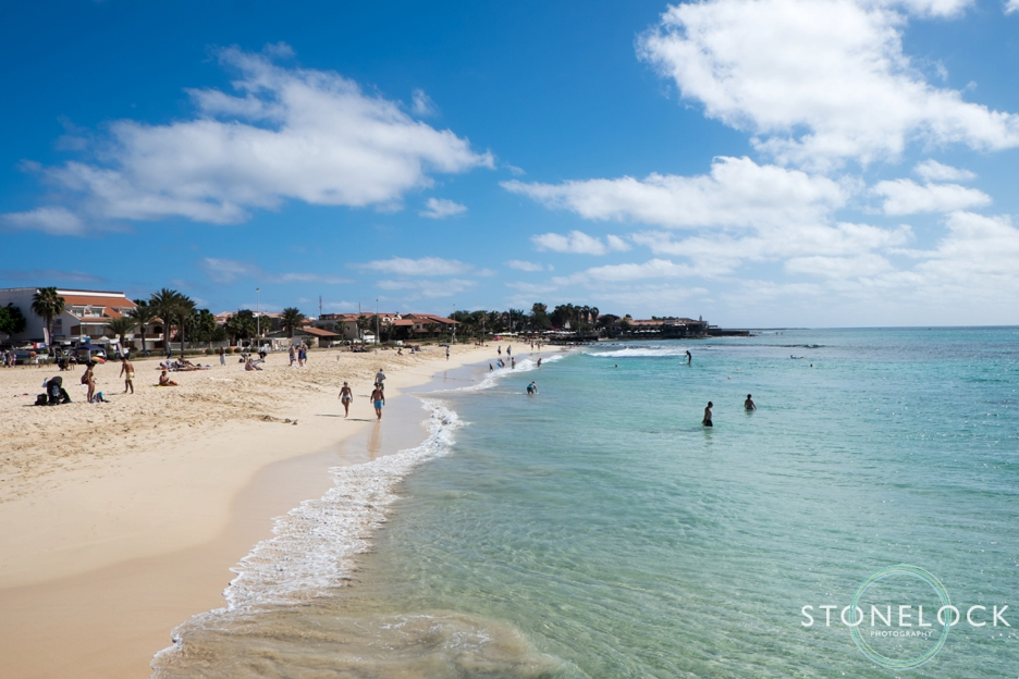 The beach in Santa Maria on Sal Island in Cape Verde