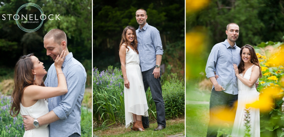 Complimentary colours & tones on an engagement photo shoot