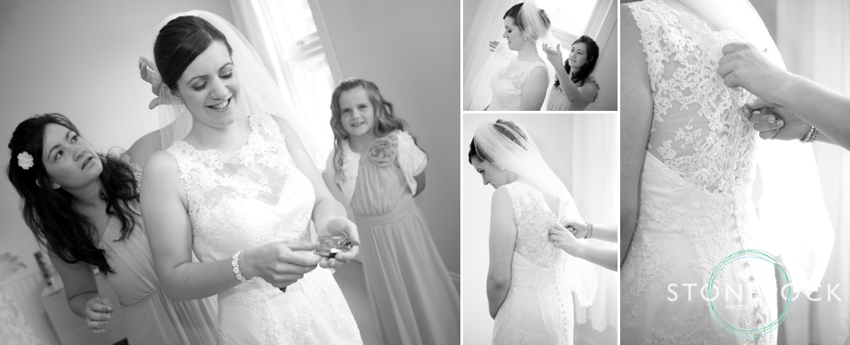 A Guide to Your Wedding Day Timeline: The Bride gets ready for her wedding