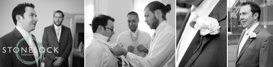 A Guide to Your Wedding Day Timeline: The Groom gets ready