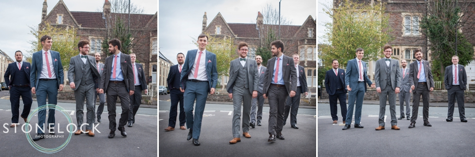 A Guide to Your Wedding Day Timeline: The Groom & Groomsmen walk to the wedding!