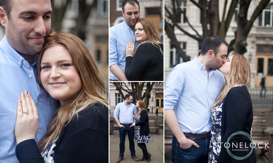 Golden Square, Soho, London, Engagement Shoot