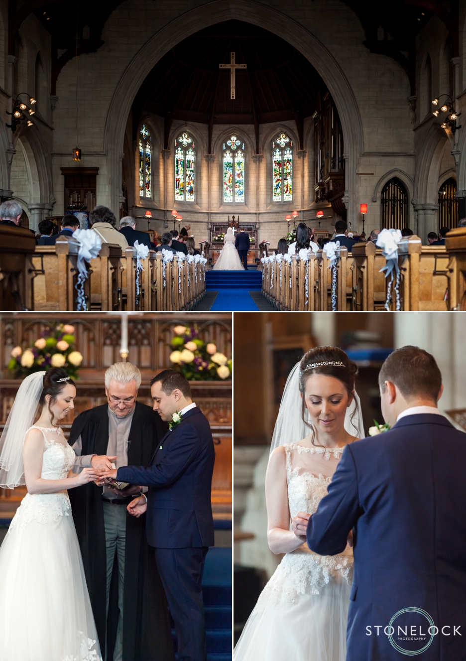 The wedding ceremony at Trinity Church in Sutton