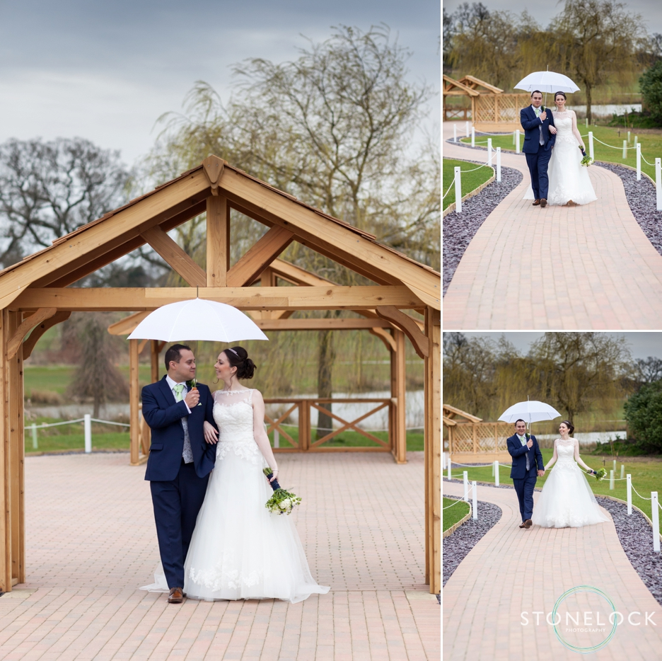 The Bride and Groom at Reigate Hill Golf Club