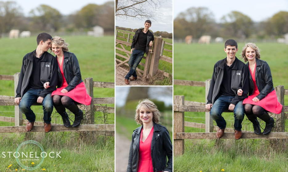 An engagement photo shoot at home in Woking Surrey
