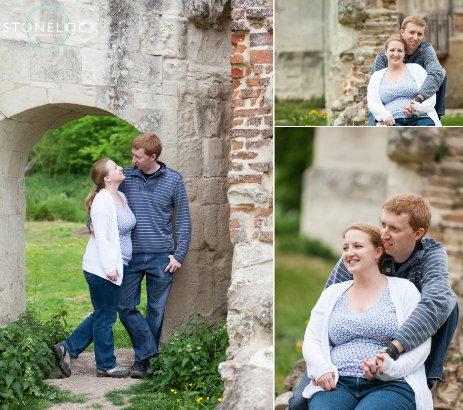 A Folly in the countryside during a Cambridgeshire engagement wedding shoot