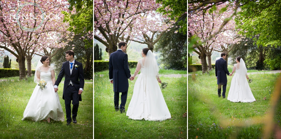 Bride and Groom wedding portraits at Pembroke Lodge in Richmond Park, London, wedding photography