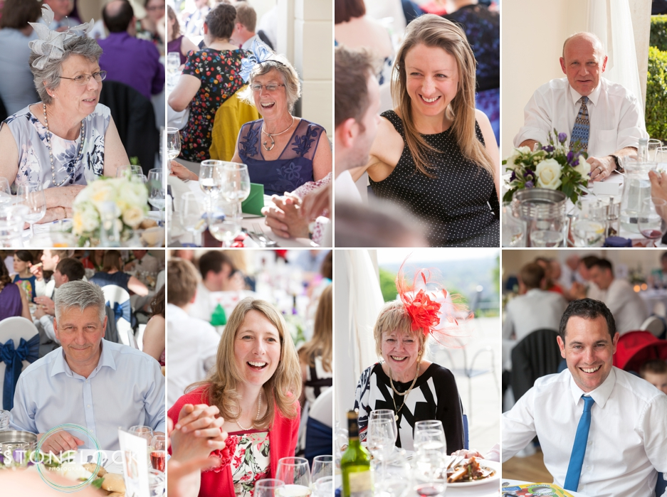 Wedding guests at Pembroke Lodge in Richmond Park, London, wedding photography