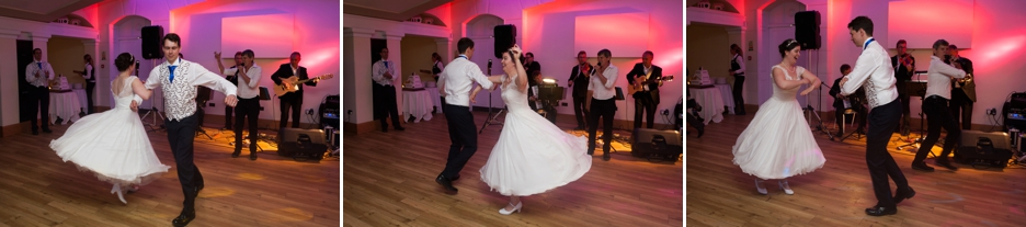 The Bride & Groom dancing at a wedding at Pembroke Lodge in Richmond Park, wedding photography