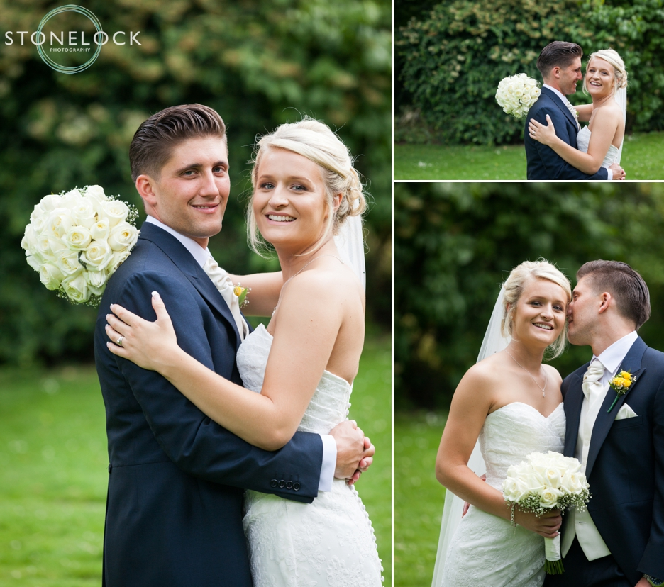 Bride and groom portraits in Carshalton, Surrey, wedding photography