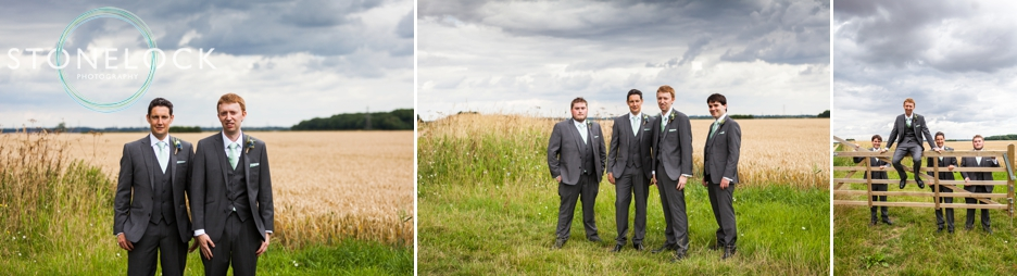 The Groom and his groomsmen at Bassmead Manor Barns in Cambridgeshire
