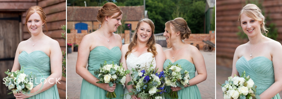 The bride and her Bridesmaids at Bassmead Manor Barns in Cambridgeshire