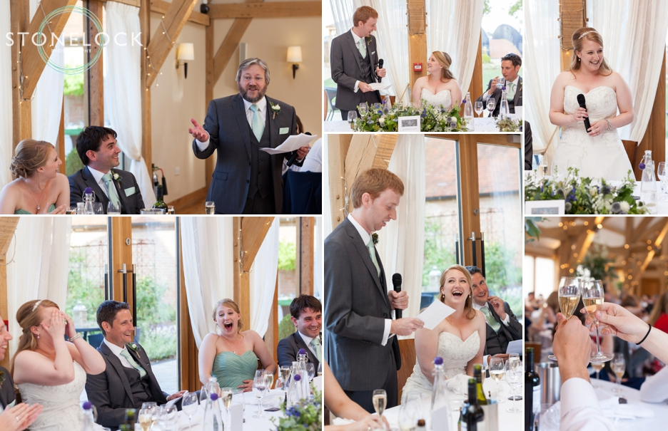 The speeches at a wedding at Bassmead Manor Barns in Cambridgeshire