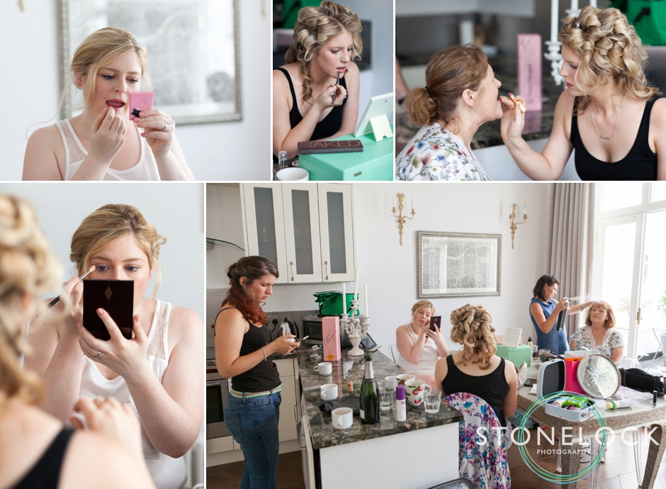 The bride and her bridesmaids get ready for her London wedding