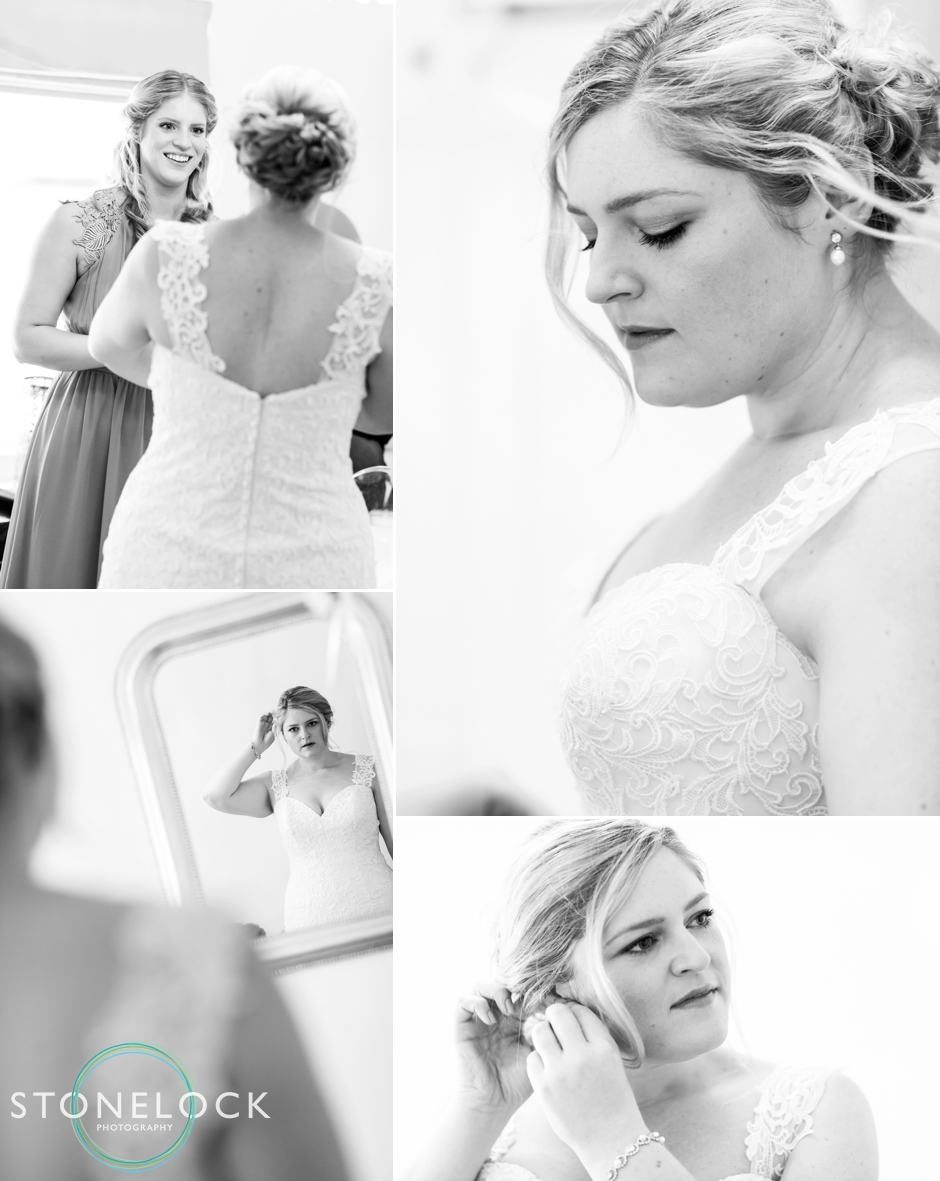 The bride gets ready for her wedding