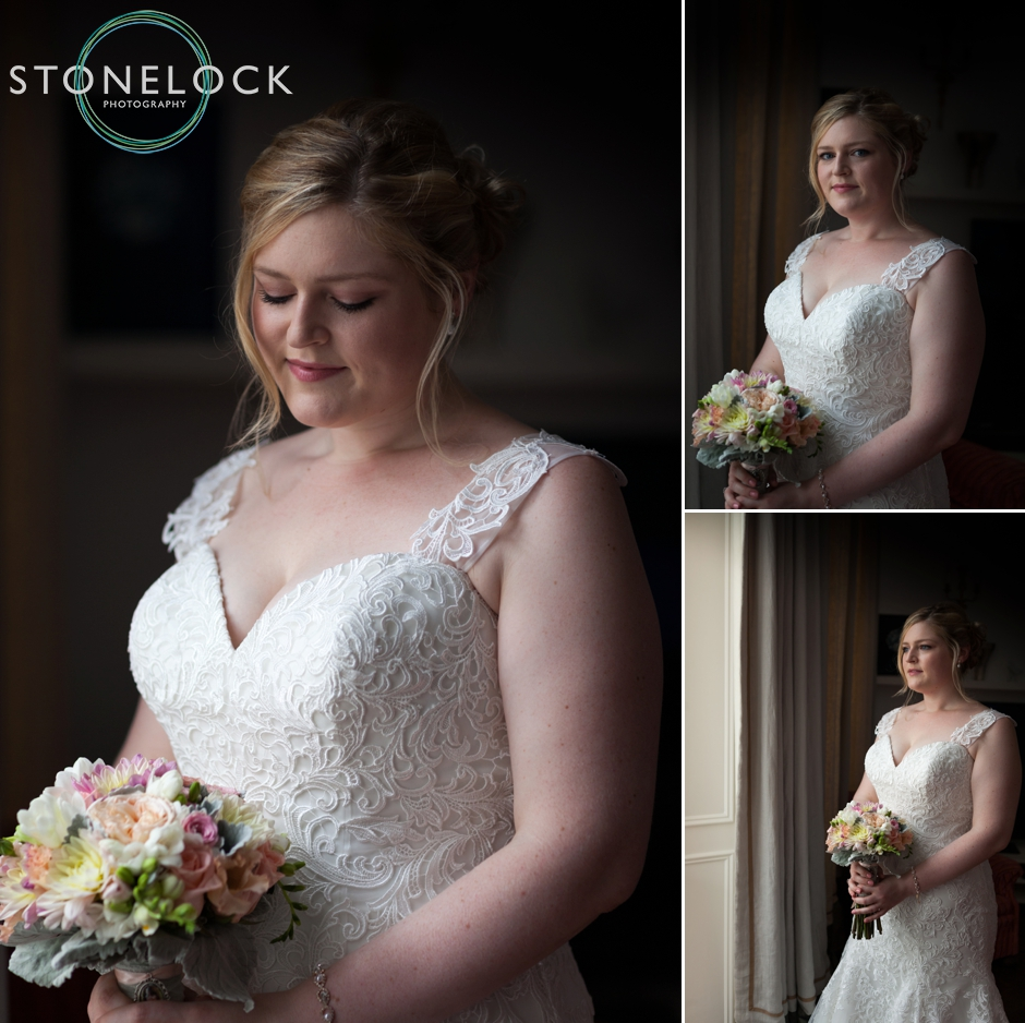 Bride portraits before her London wedding
