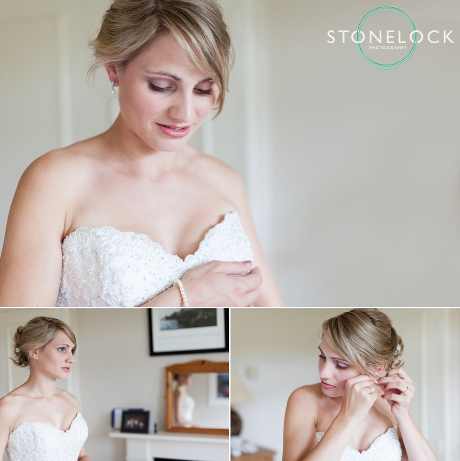 The bride getting ready for her wedding in Surrey