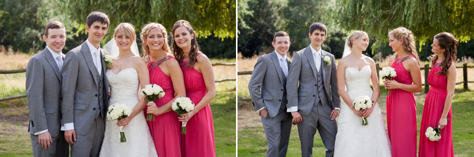 Wedding Photography in Surrey, bridal party with bridesmaids & best man portraits