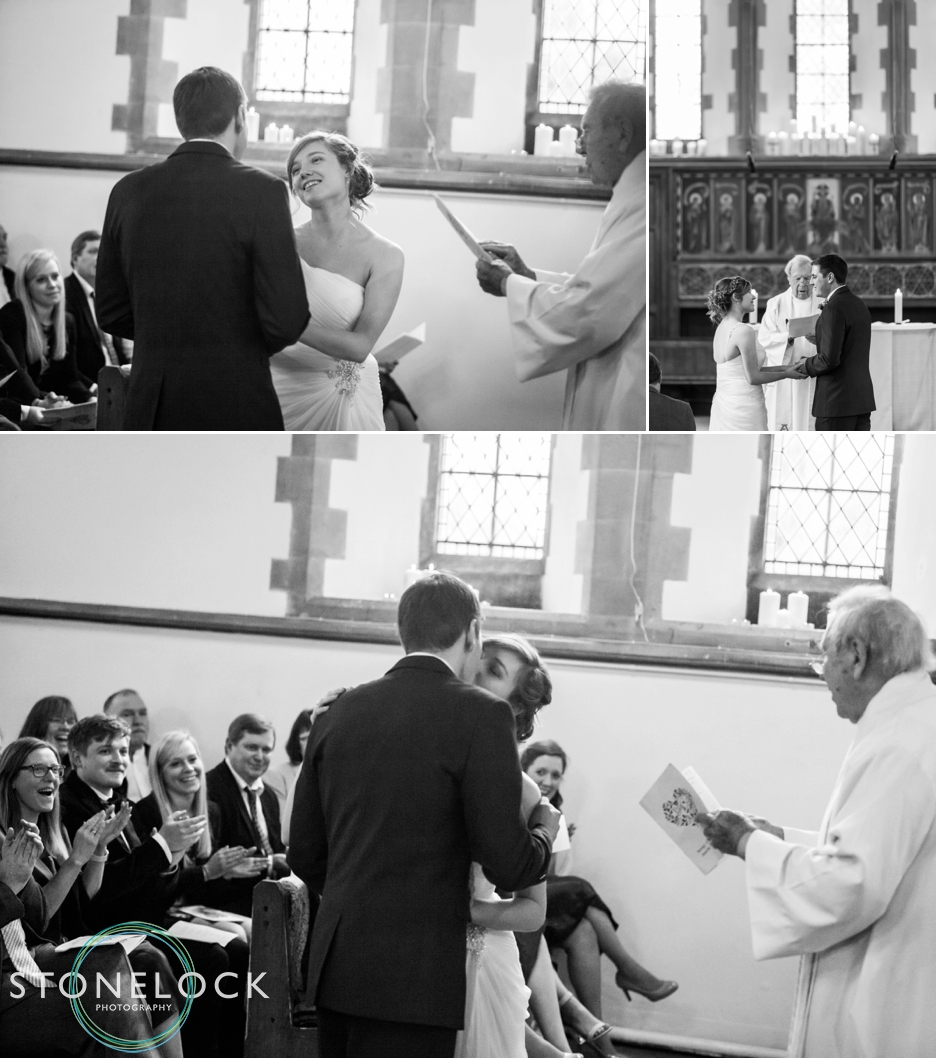 St Johns the Baptist Church in Hampshire, wedding ceremony