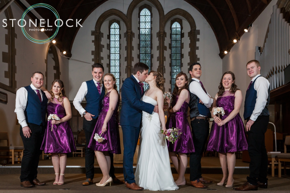 Hampshire wedding, the bridal party