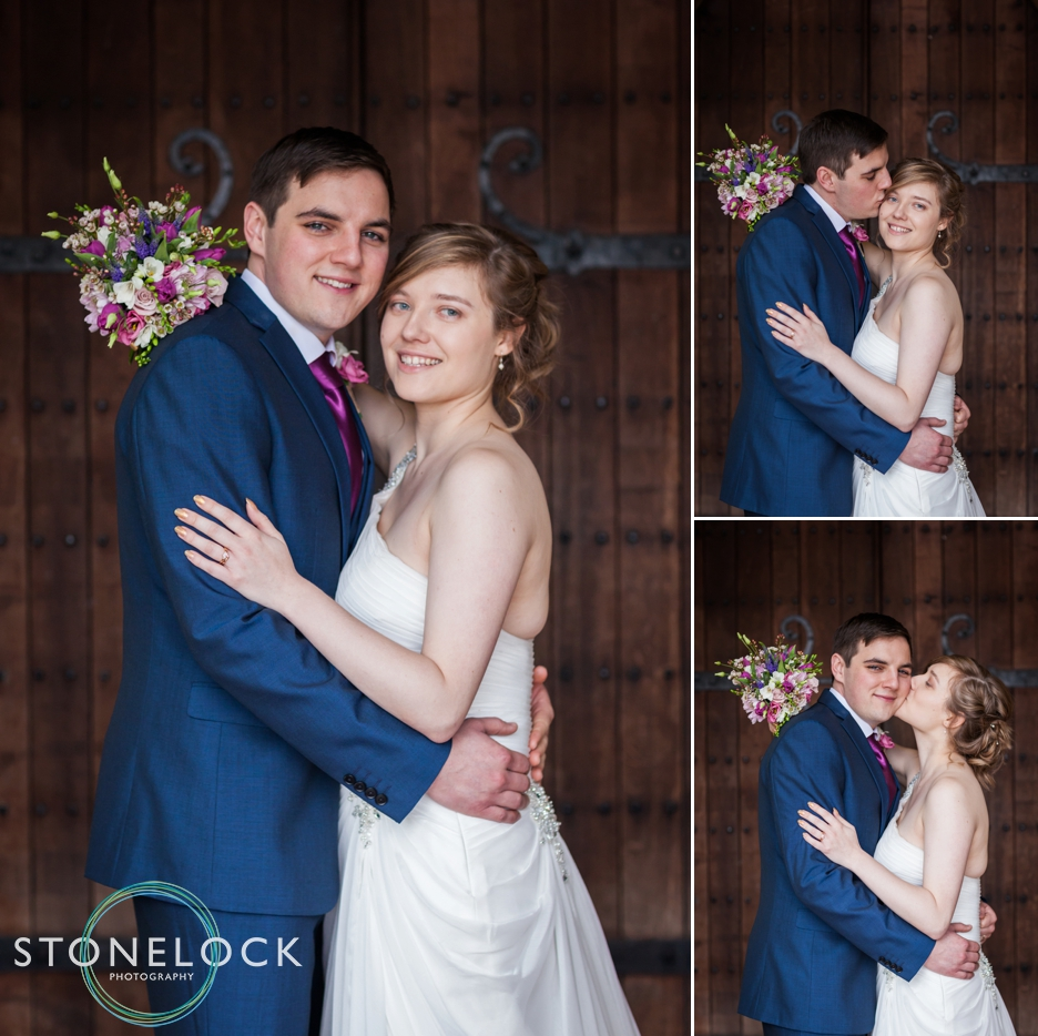 Bride & Groom photograph at St Johna the Baptist Church, Hampshire