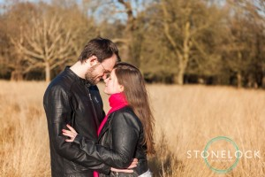 Richmond Park, London, Spring engagement shoot