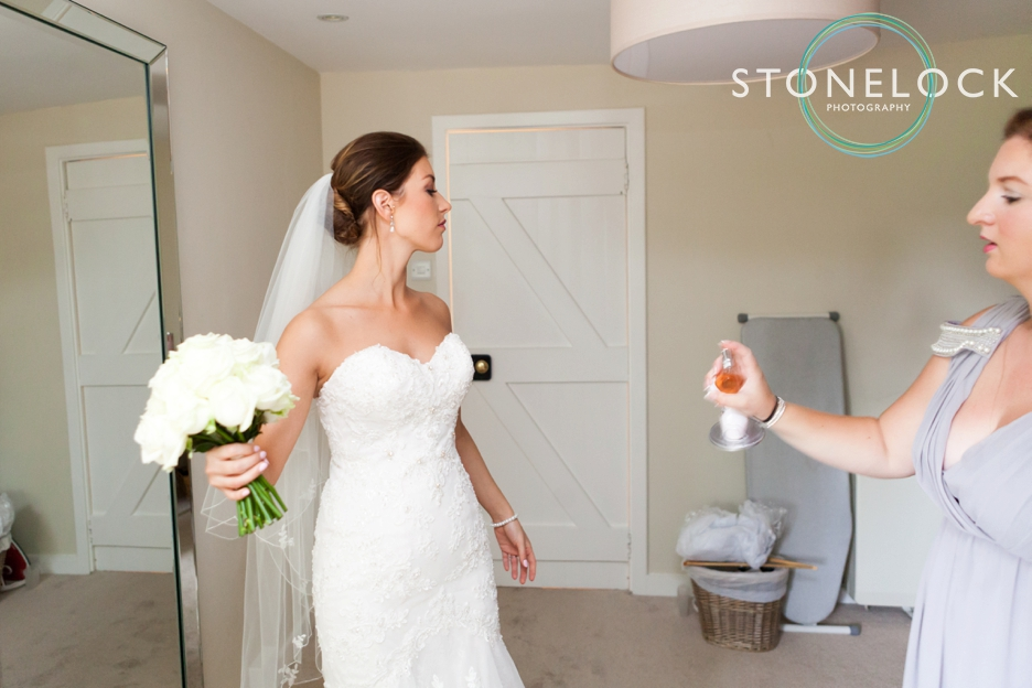 Farnham Castle, Surrey, Wedding photography, the bride getting ready