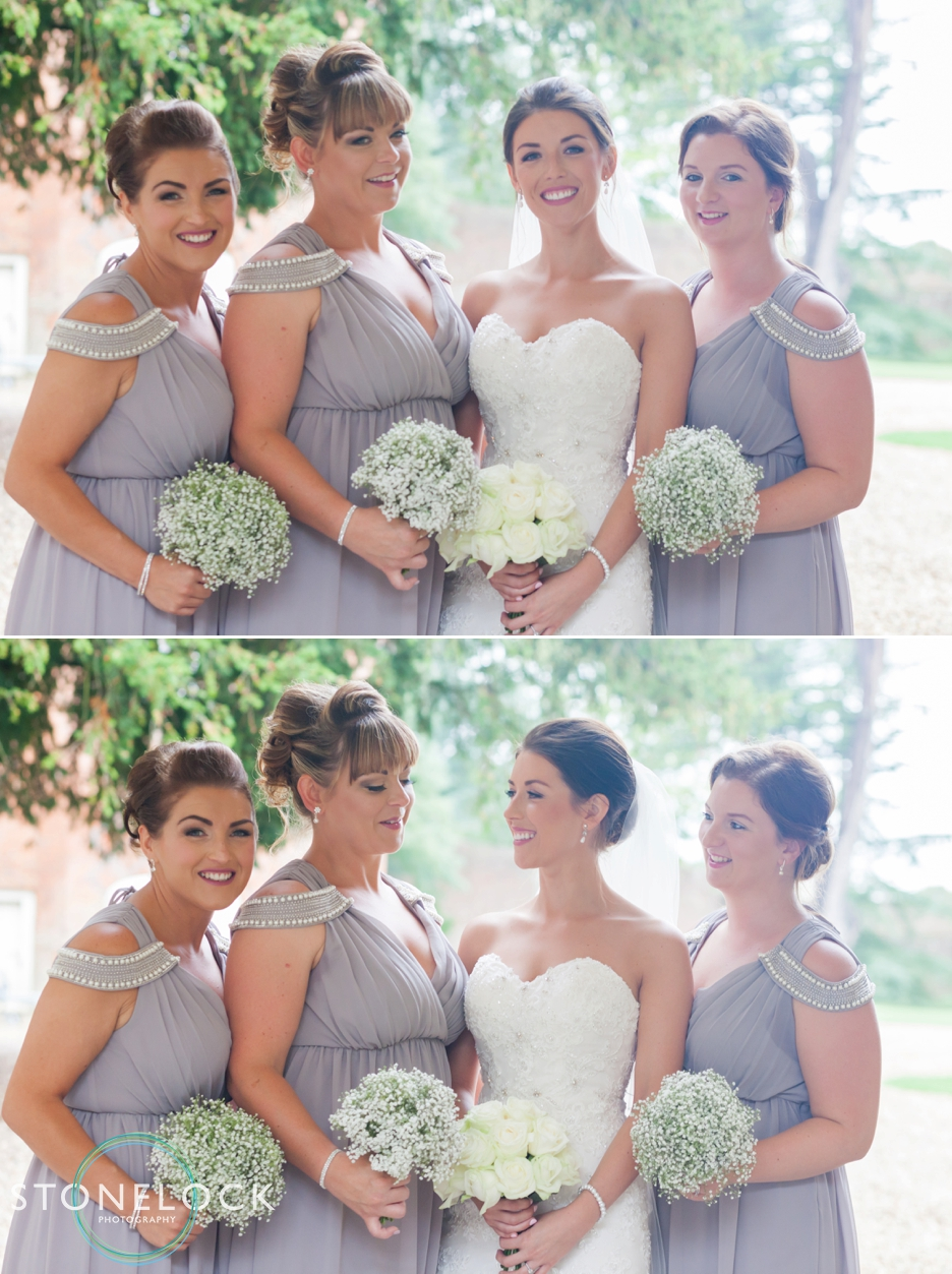 Farnham Castle, Surrey, Wedding photography, bride & her bridesmaids