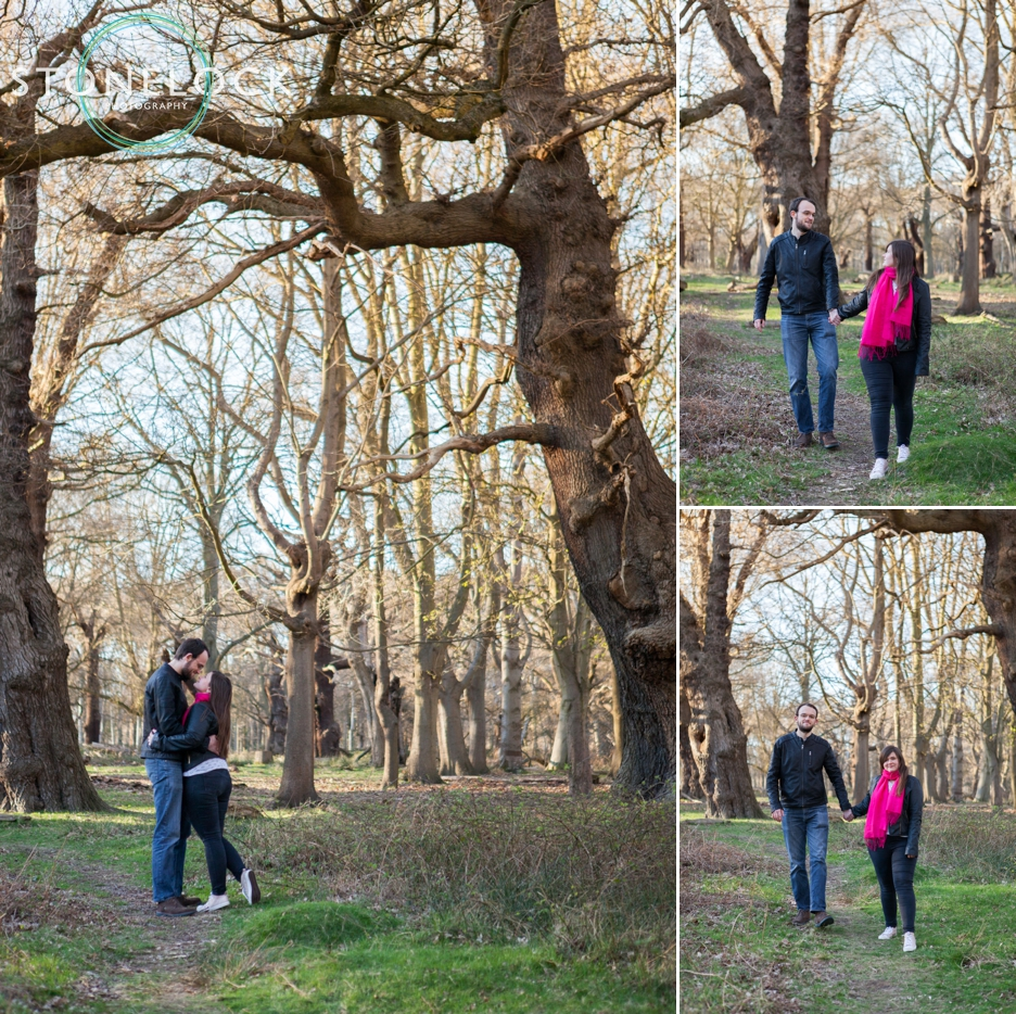 Richmond Park, London, Spring engagement shoot
