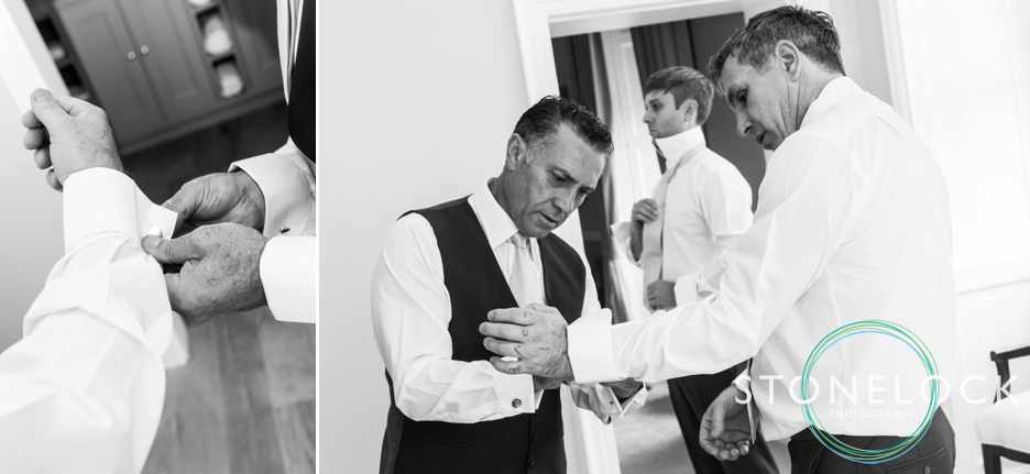 Farnham Castle, Surrey, Wedding photography, the groom & his groomsmen get ready