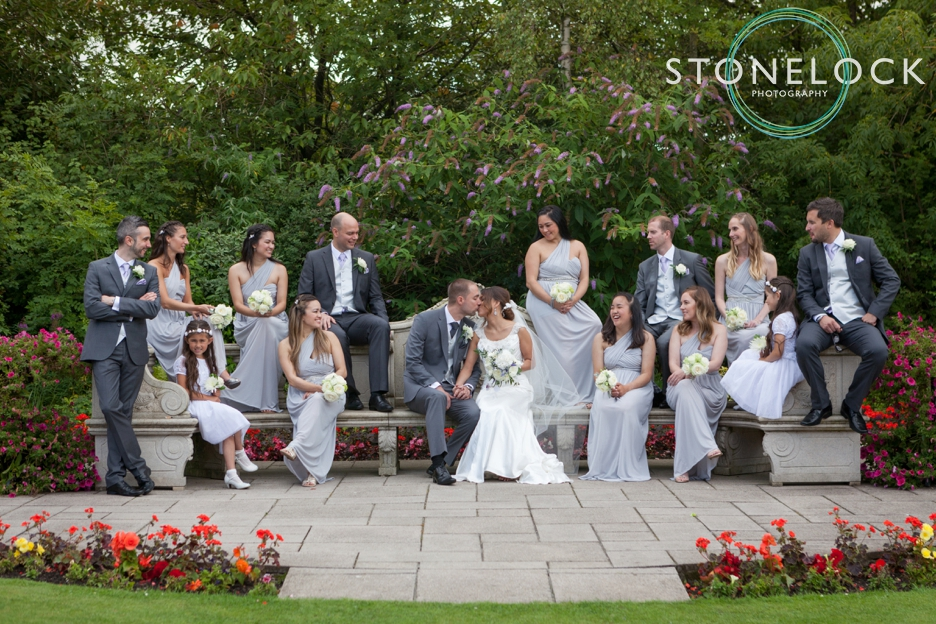 Top tips for great wedding photography, the bridal party pose for photos