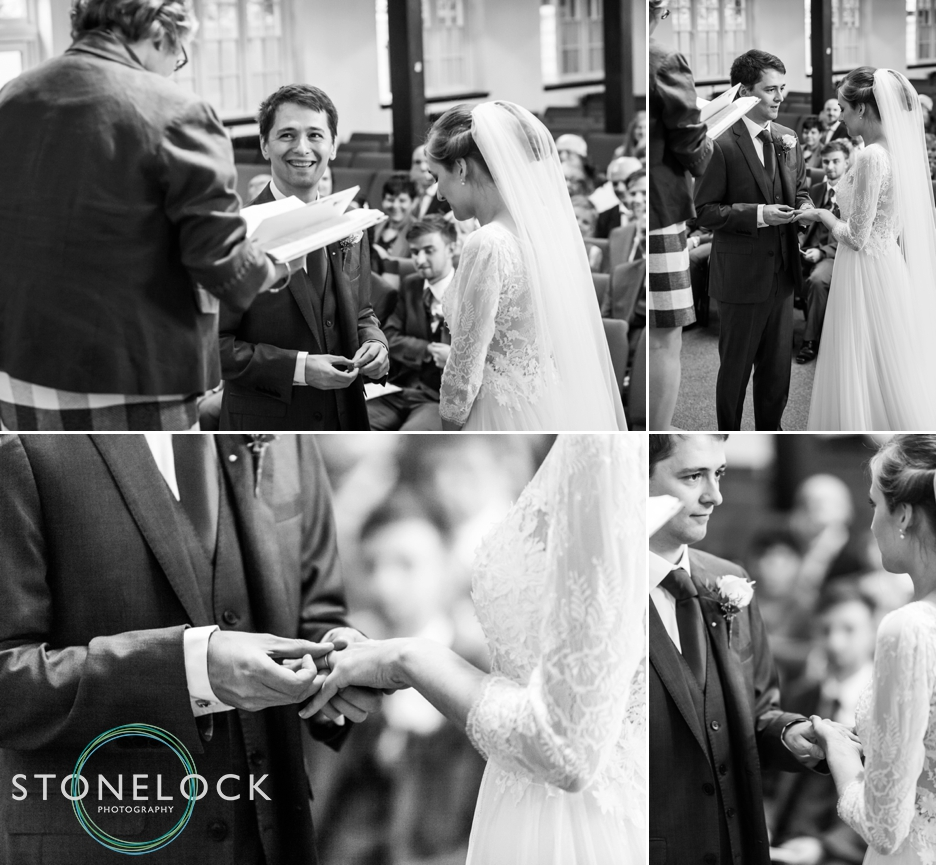 Wedding ceremony at Enfield Baptist Church, London