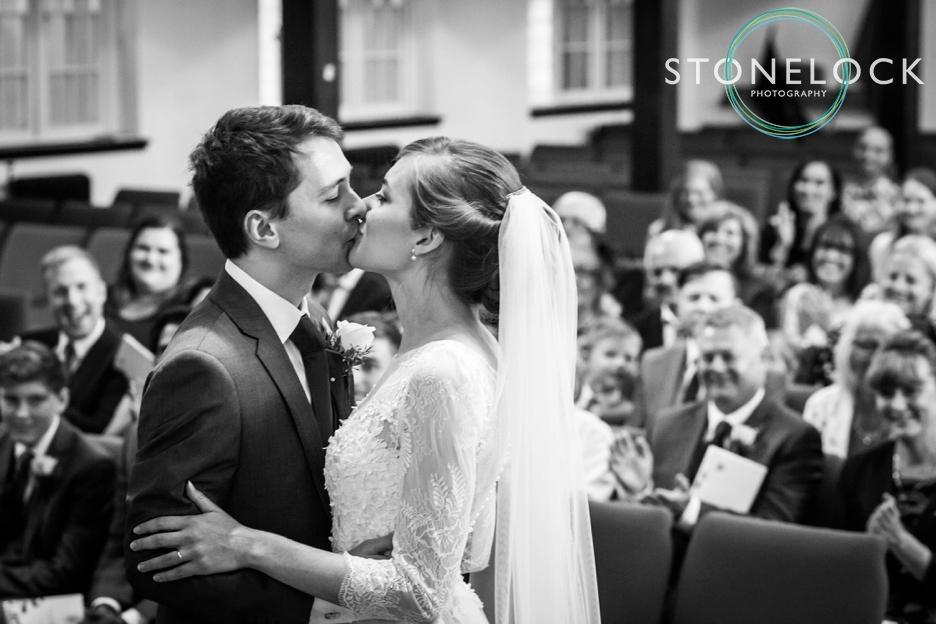 Wedding ceremony at Enfield Baptist Church, London