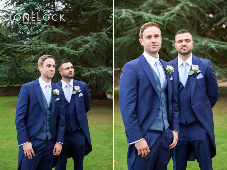 Farnham Castle, Surrey, Wedding photography, the groom & his best man