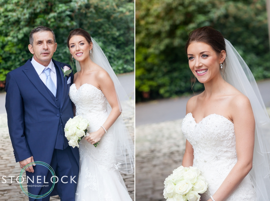 Farnham Castle, Surrey, Wedding photography, the bride & her father