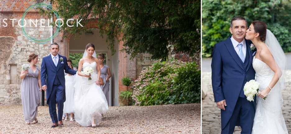 Farnham Castle, Surrey, Wedding photography, the bride walks to the ceremony room
