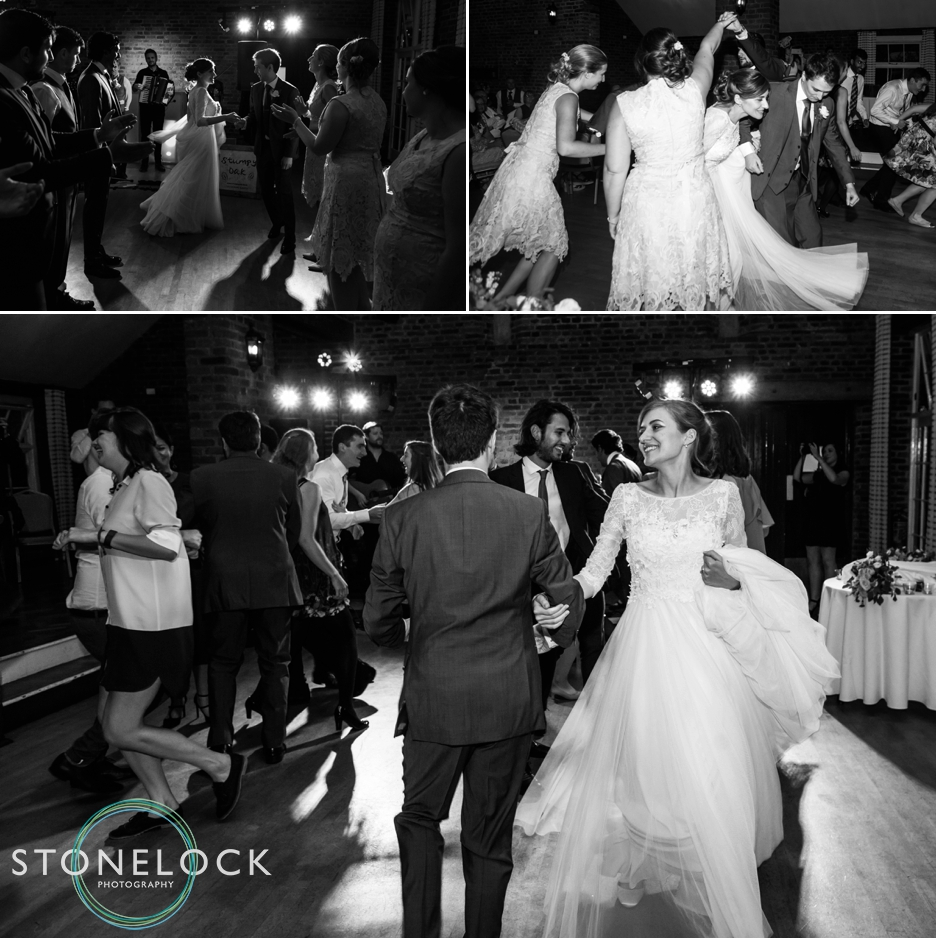 Dancing at the wedding reception at Forty Hall in Enfield, London