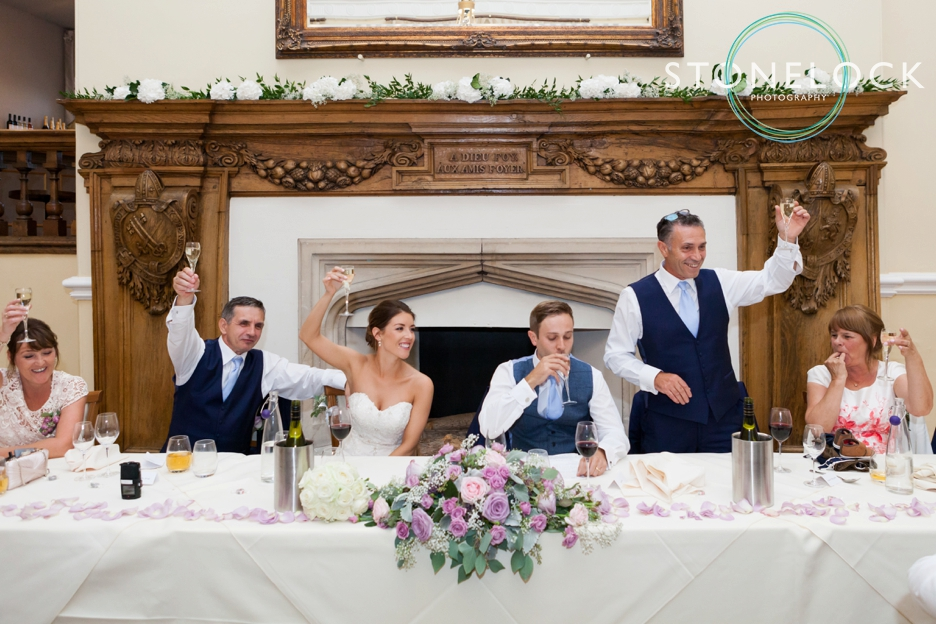 Farnham Castle, Surrey, Wedding photography, toasting the bride & groom