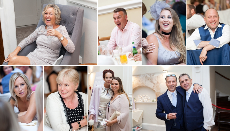 Farnham Castle, Surrey, Wedding photography, guests celebrating
