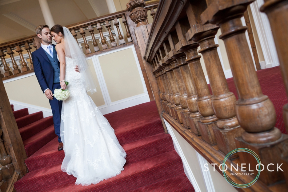 Farnham Castle, Surrey, Wedding photography, bride & groom portrait photo