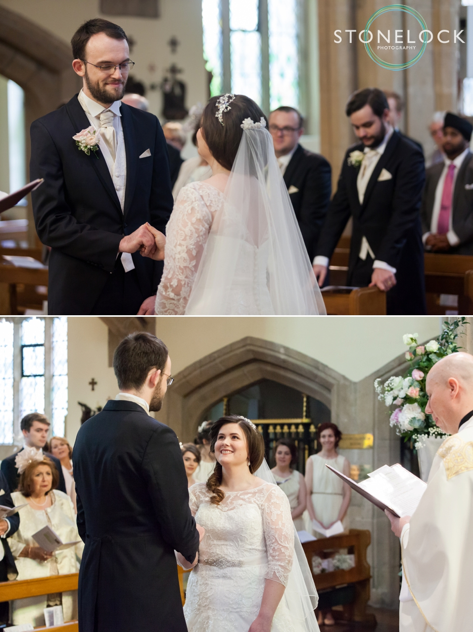 Wedding photography at St Georges Church in Wembley, London, the ceremony