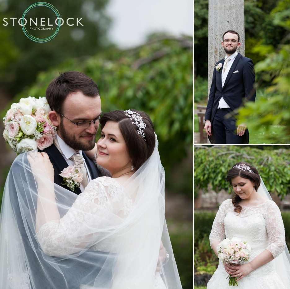 Bride & Groom portrait at a London Wedding